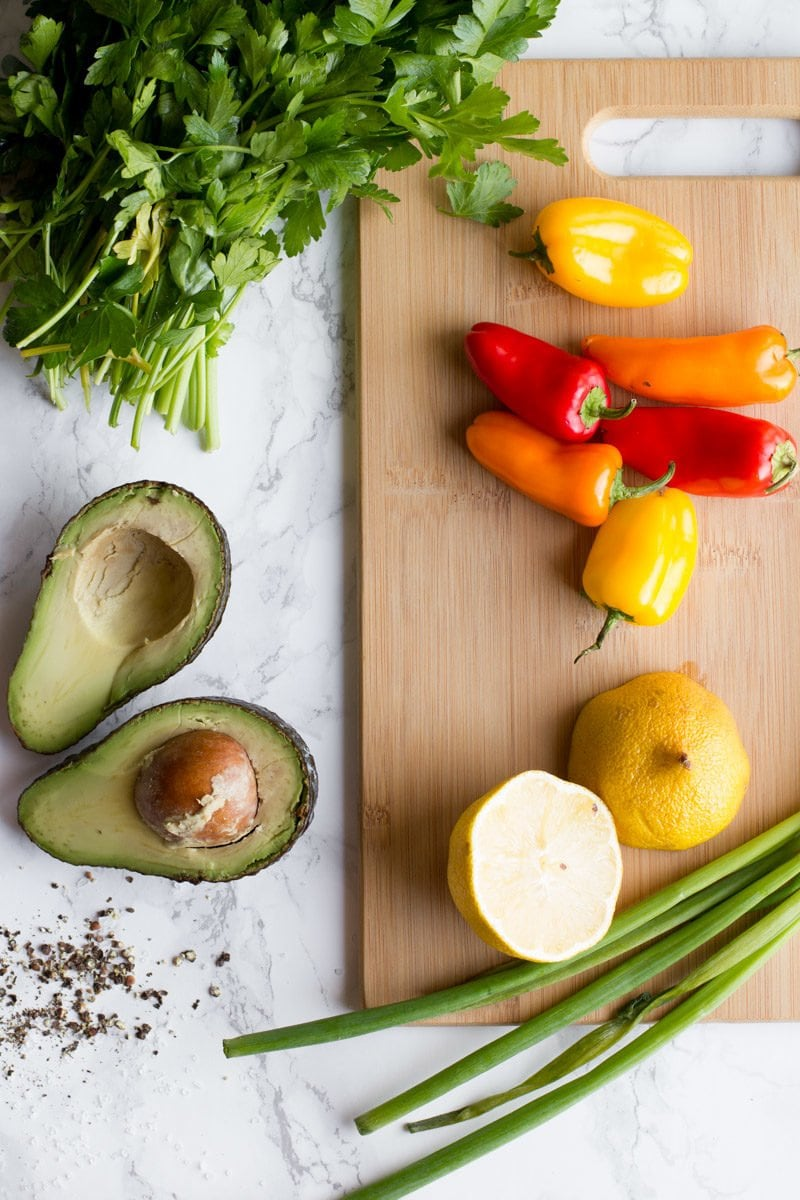Avocado Bell Pepper Salad - Back to Her Roots