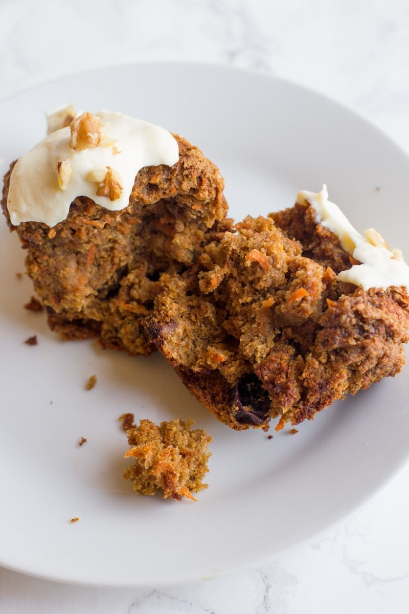 Wholefully Healthy Carrot Cake Muffins