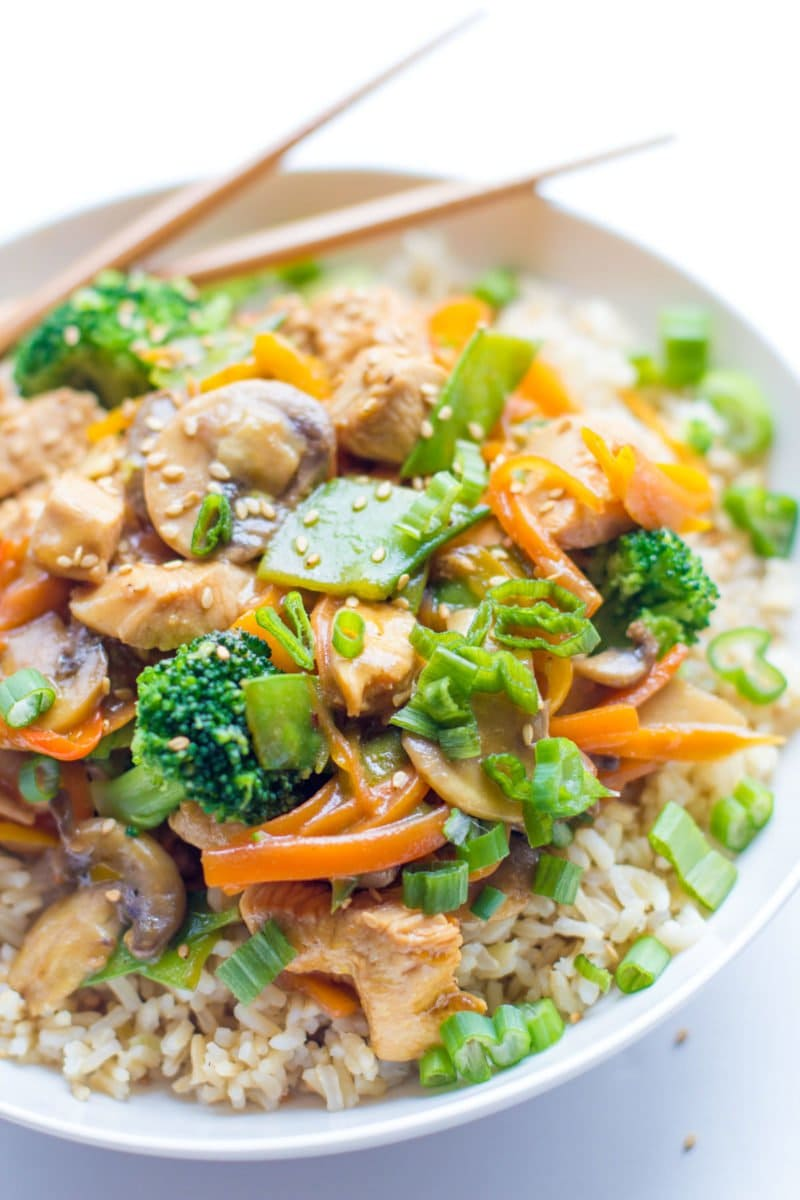 Healthy Chicken Stir Fry is a great way to get in a ton of veggies ...