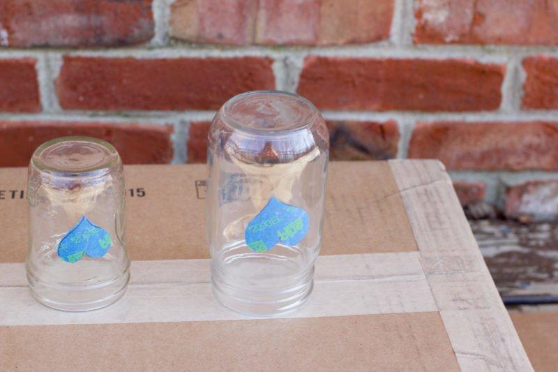 Painted Mason Jar Votive Holders