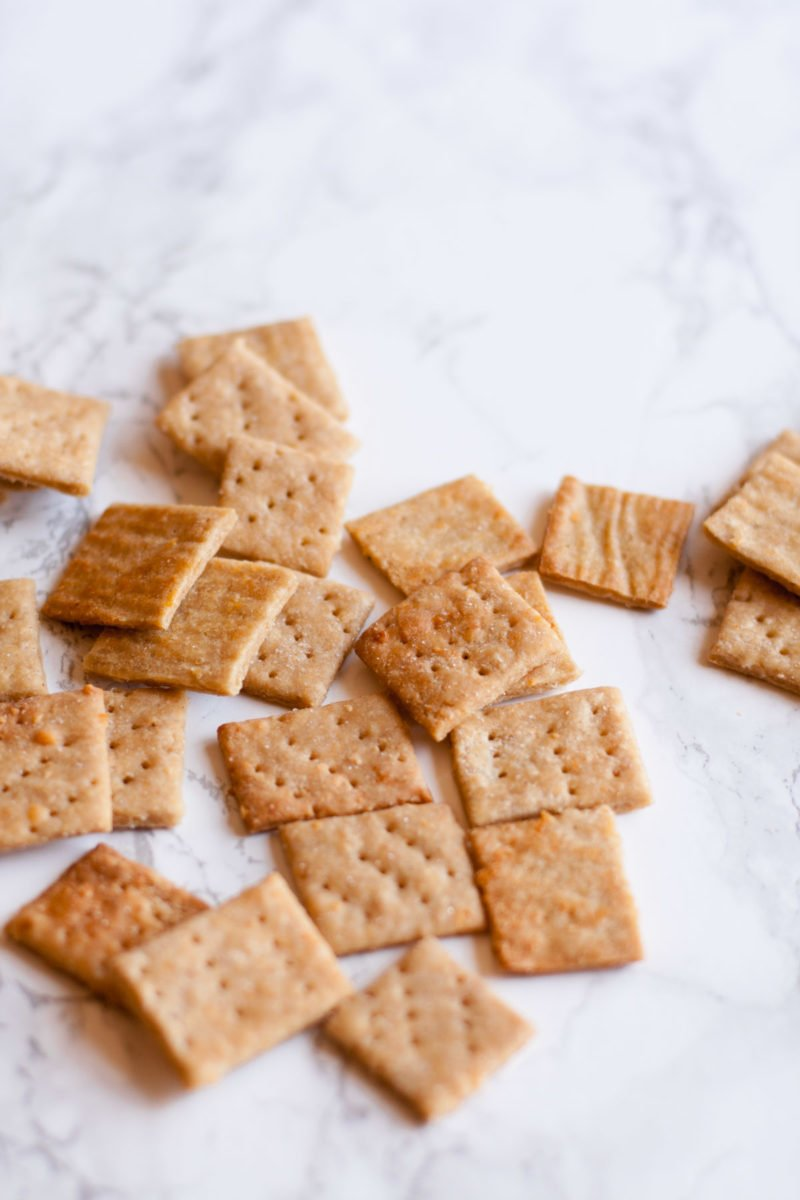 Whole Wheat Parmesan Crackers