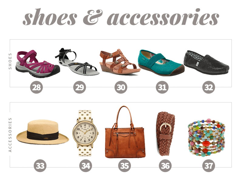 Summer 2016 Capsule Wardrobe Shoes & Accessories