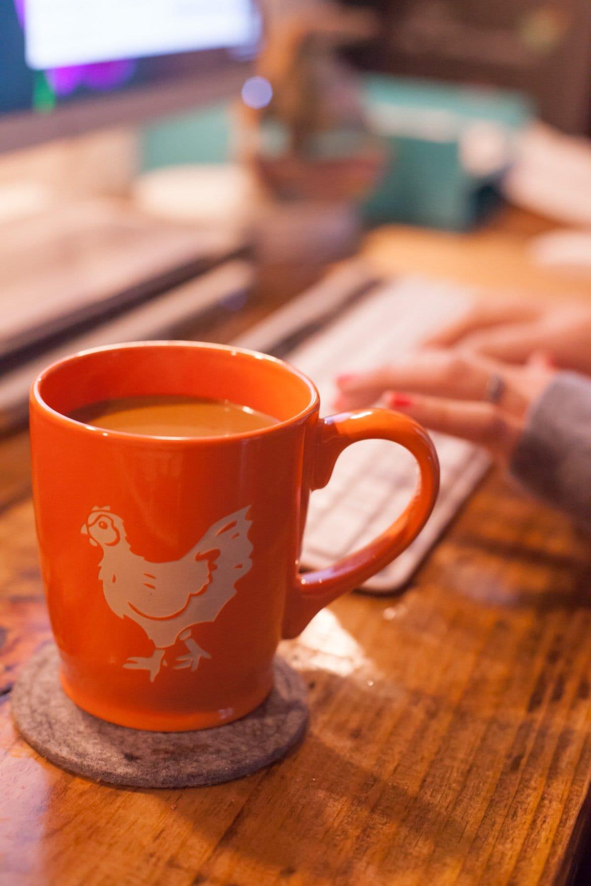 Coffee at Desk