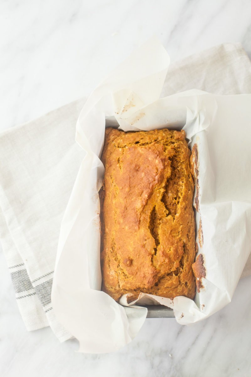 One Bowl Whole Wheat Pumpkin Bread
