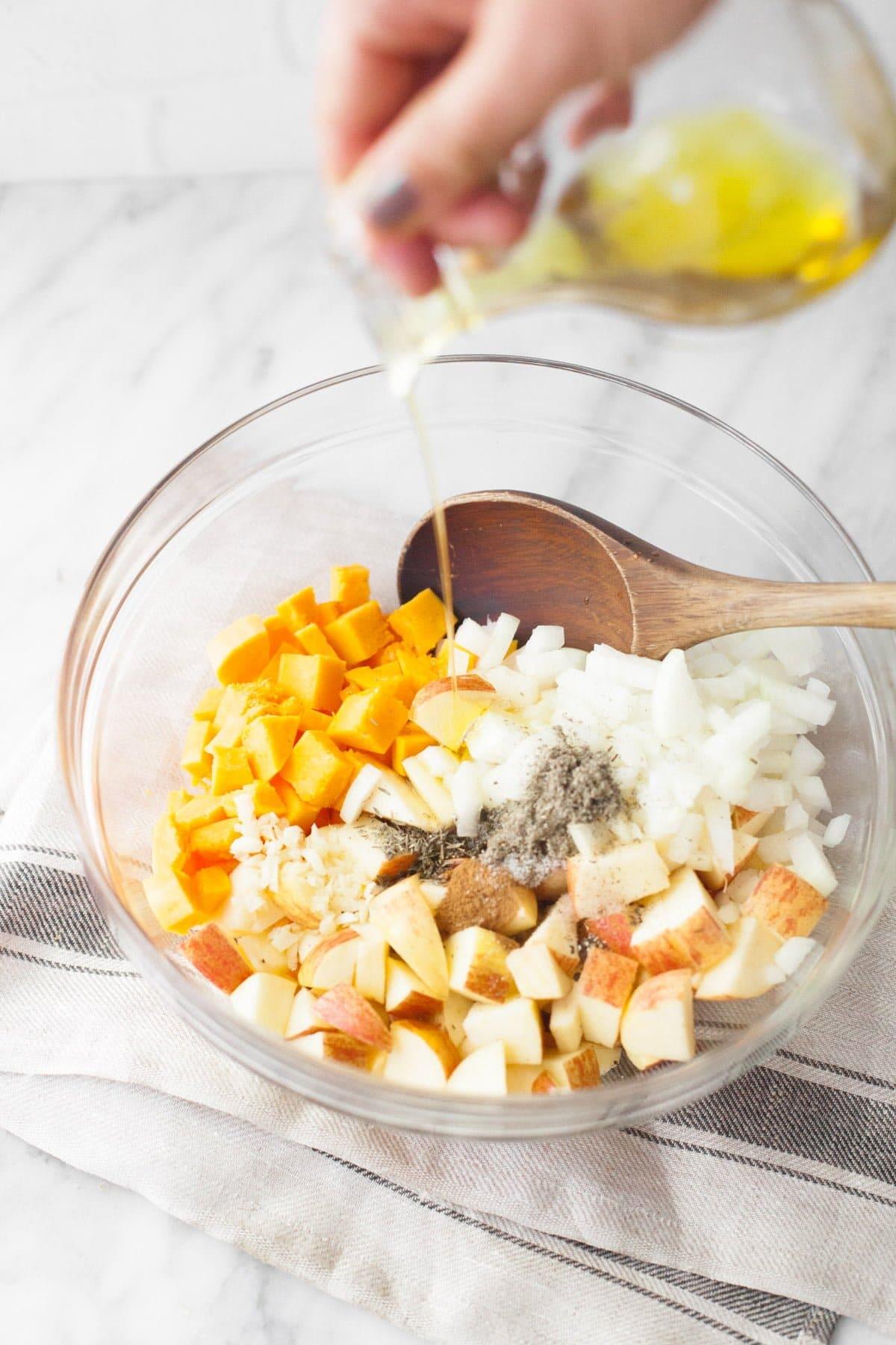 Roasted Apple and Pumpkin Farro Salad