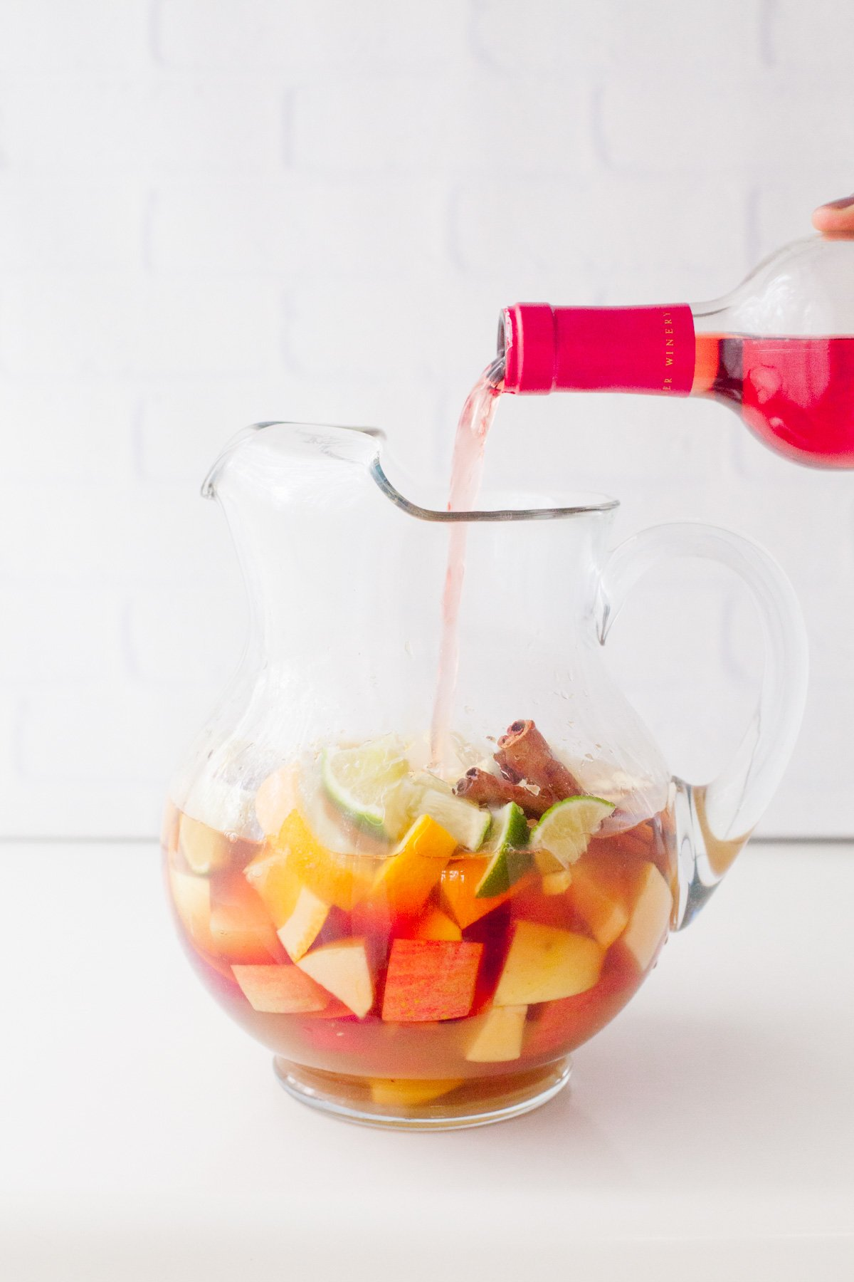 Autumn Apple Rose Sangria