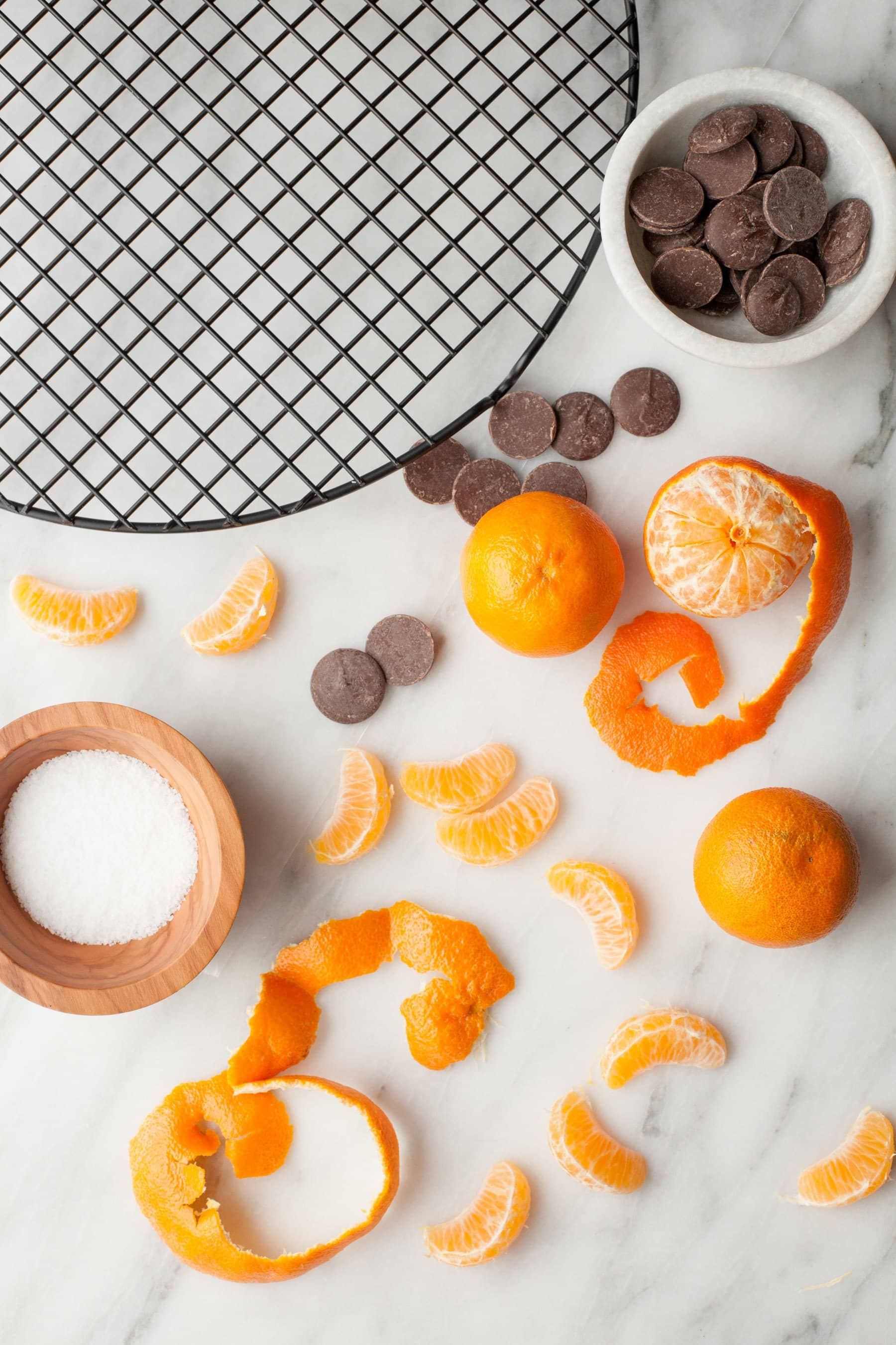 Salted Chocolate Dipped Clementines