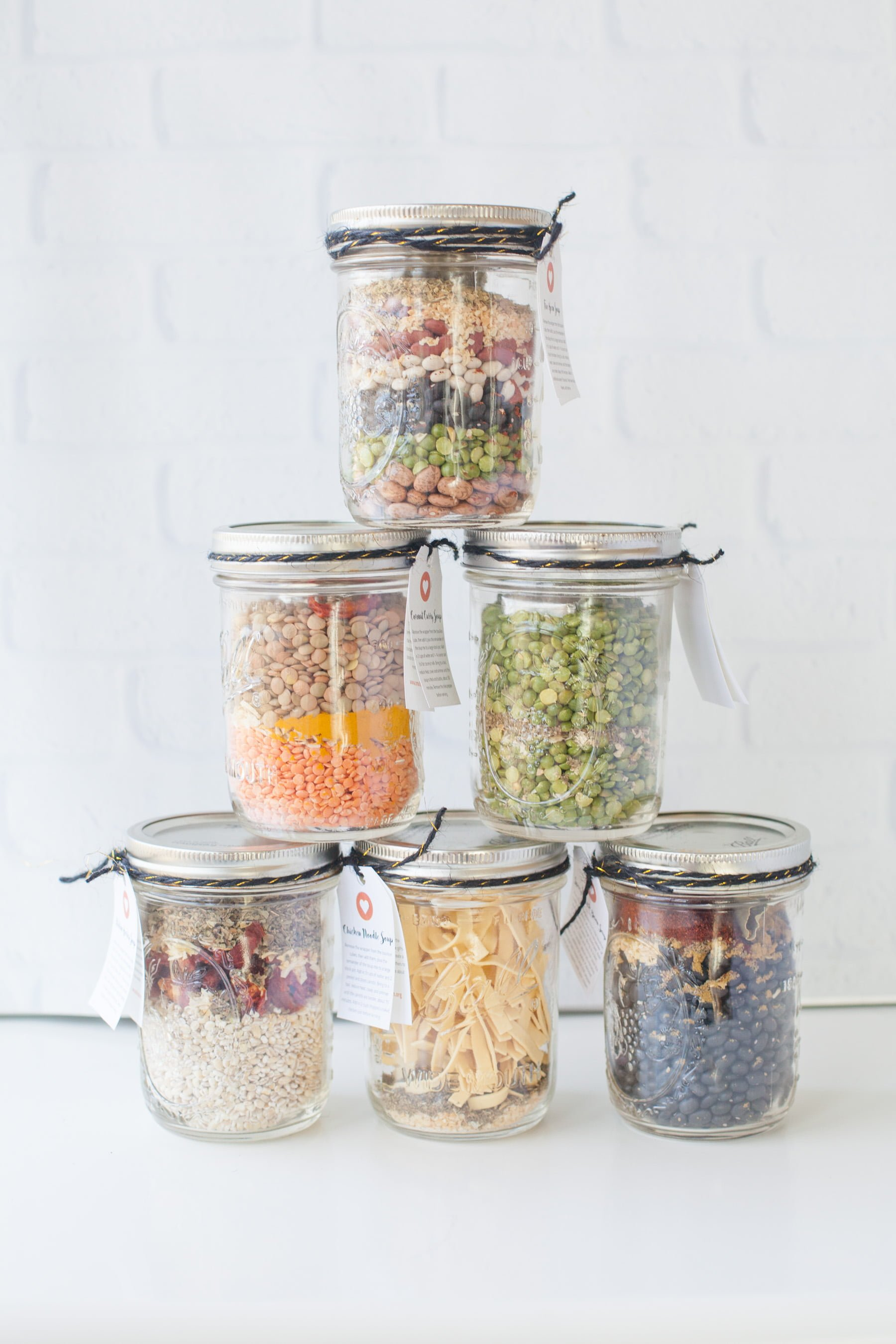Soup Mixes in a Jar - diy christmas gifts