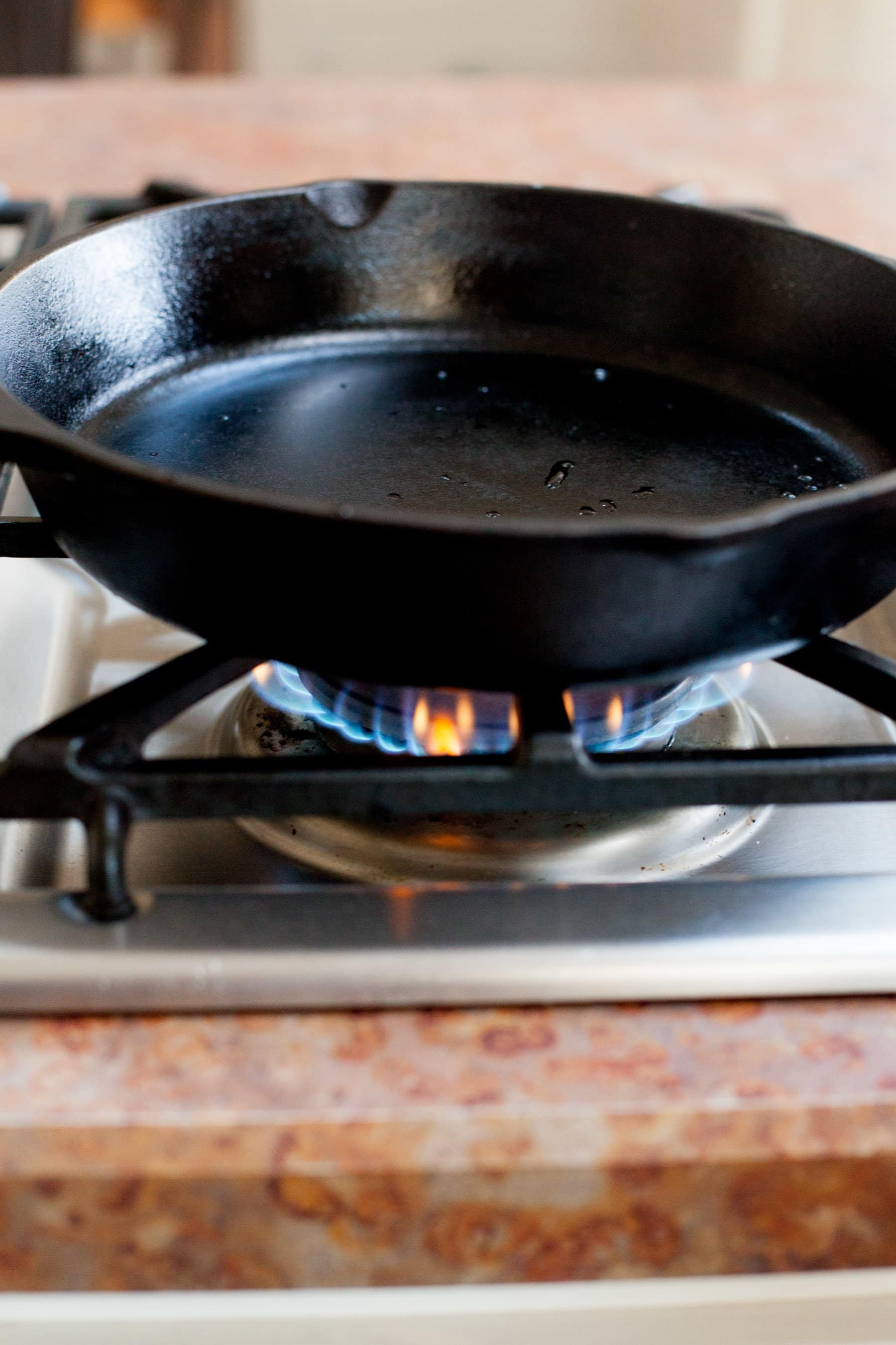 Skillet on Stove