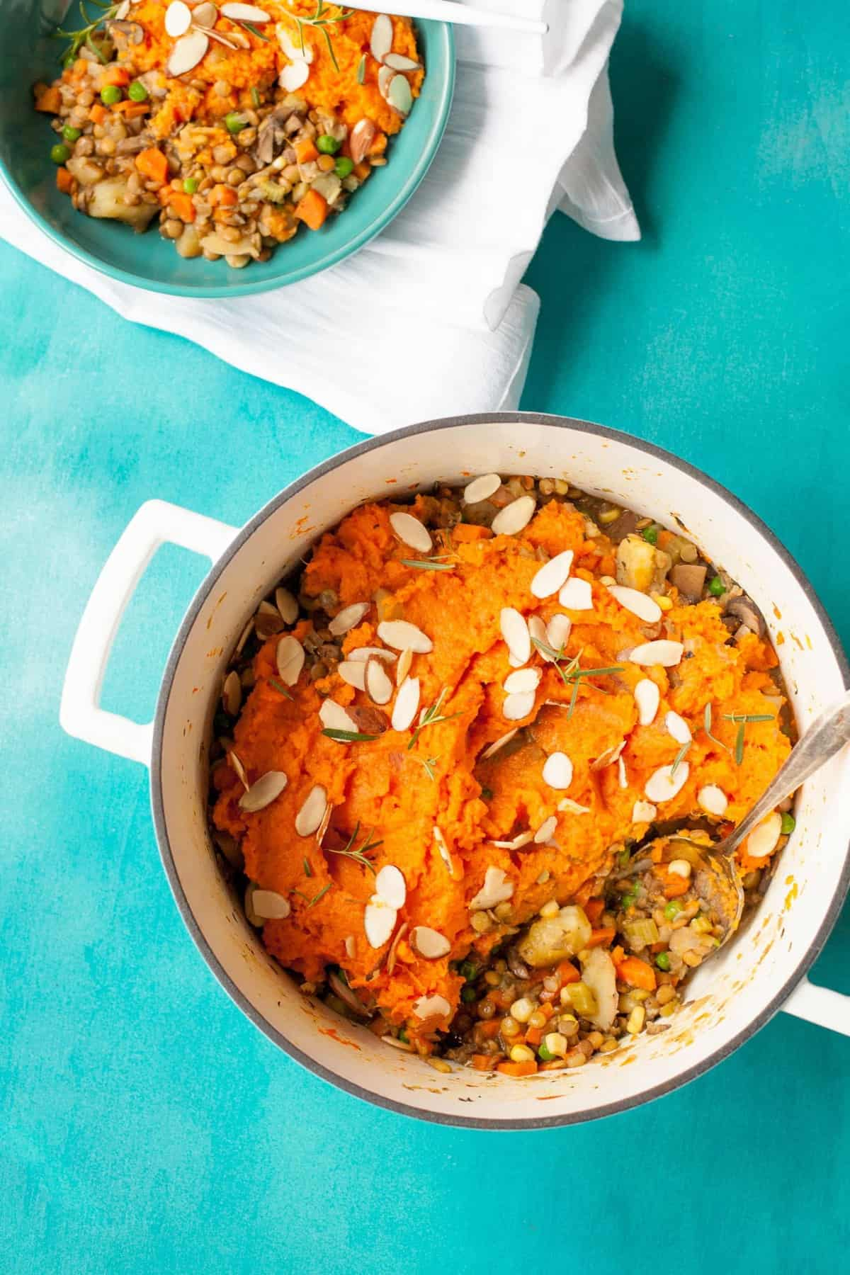 Sweet Potato Lentil Shepherd's Pie is healthy comfort food epitomized, and the ultimate one pot wonder.