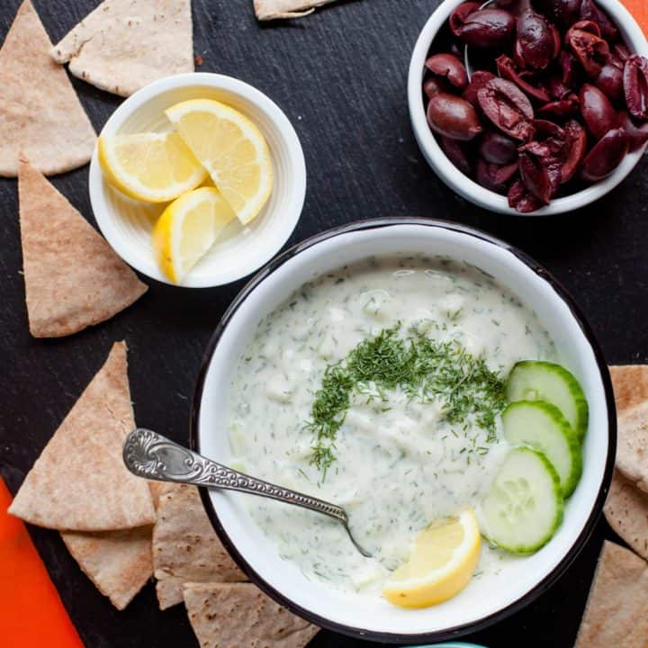 Ten Minute Tzatziki Recipe Vegan Option Wholefully