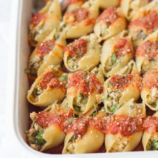 Vegan Stuffed Shells with Cashew Ricotta and Parmesan