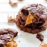 Salted Caramel Dark Chocolate Brownie Cookies