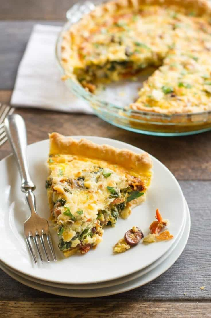 Veggie Mediterranean Quiche Wholefully