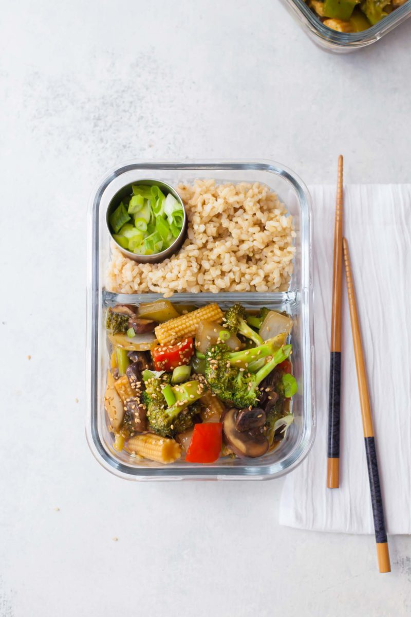 Meal Prep Healthy Veggie Stir Fry