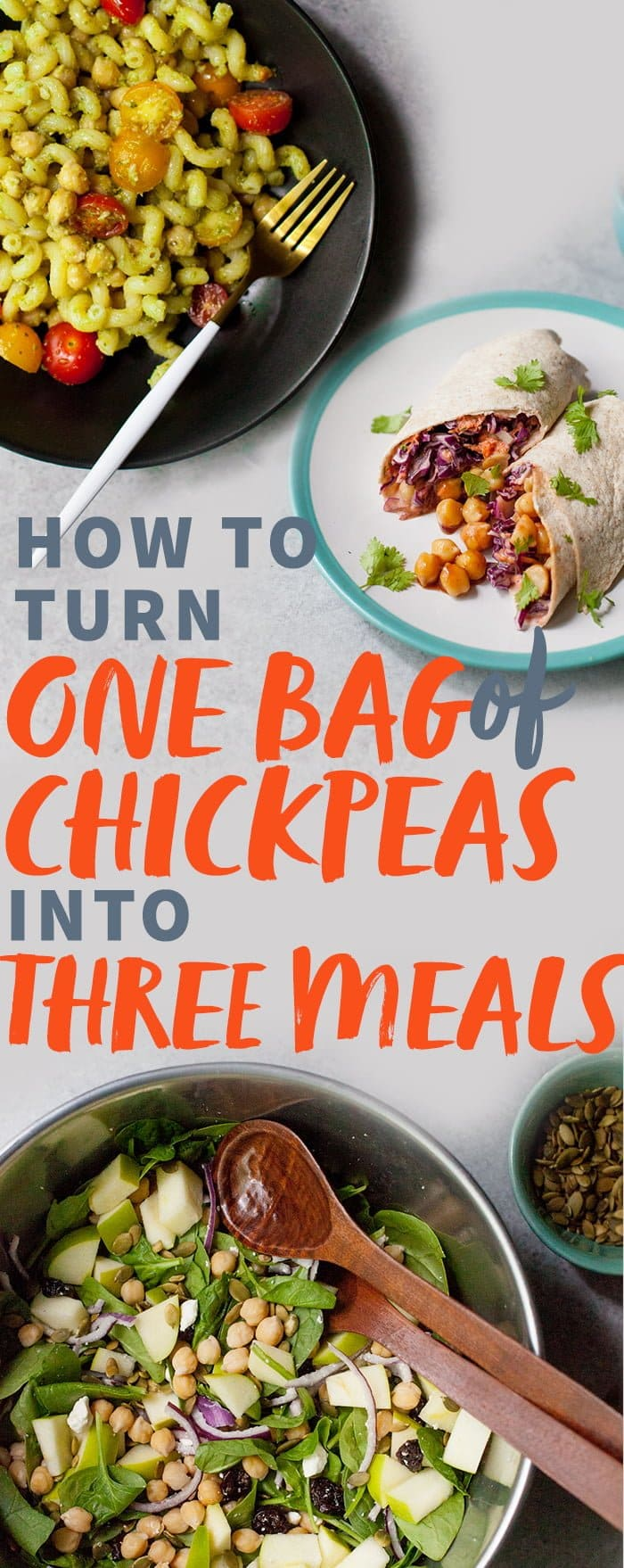 One Bag of Chickpeas, Three Meals