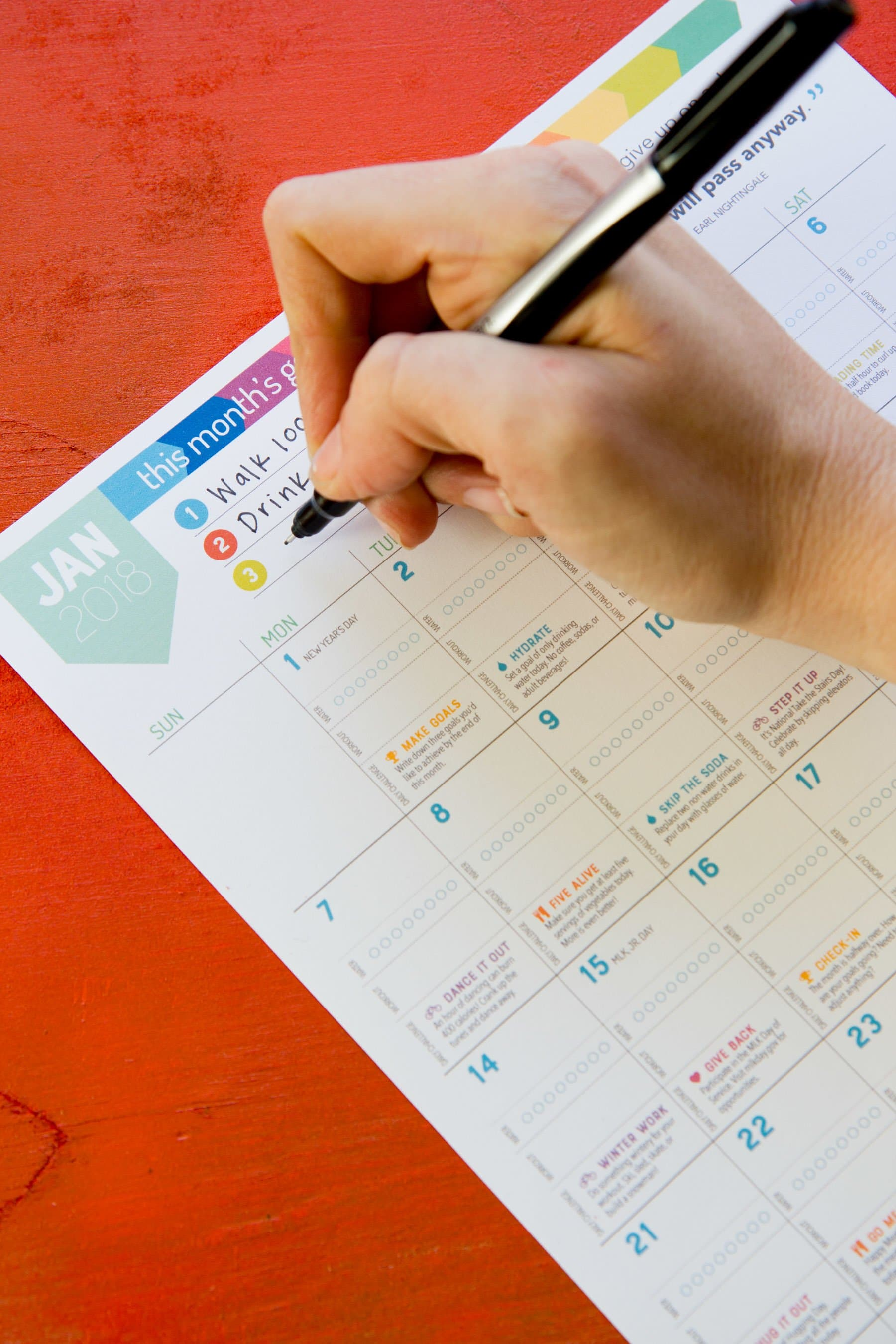 The 2018 Wholefully Wellness Calendar is here!