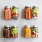 4 Soup and Salad Mason Jar Lunch Combos