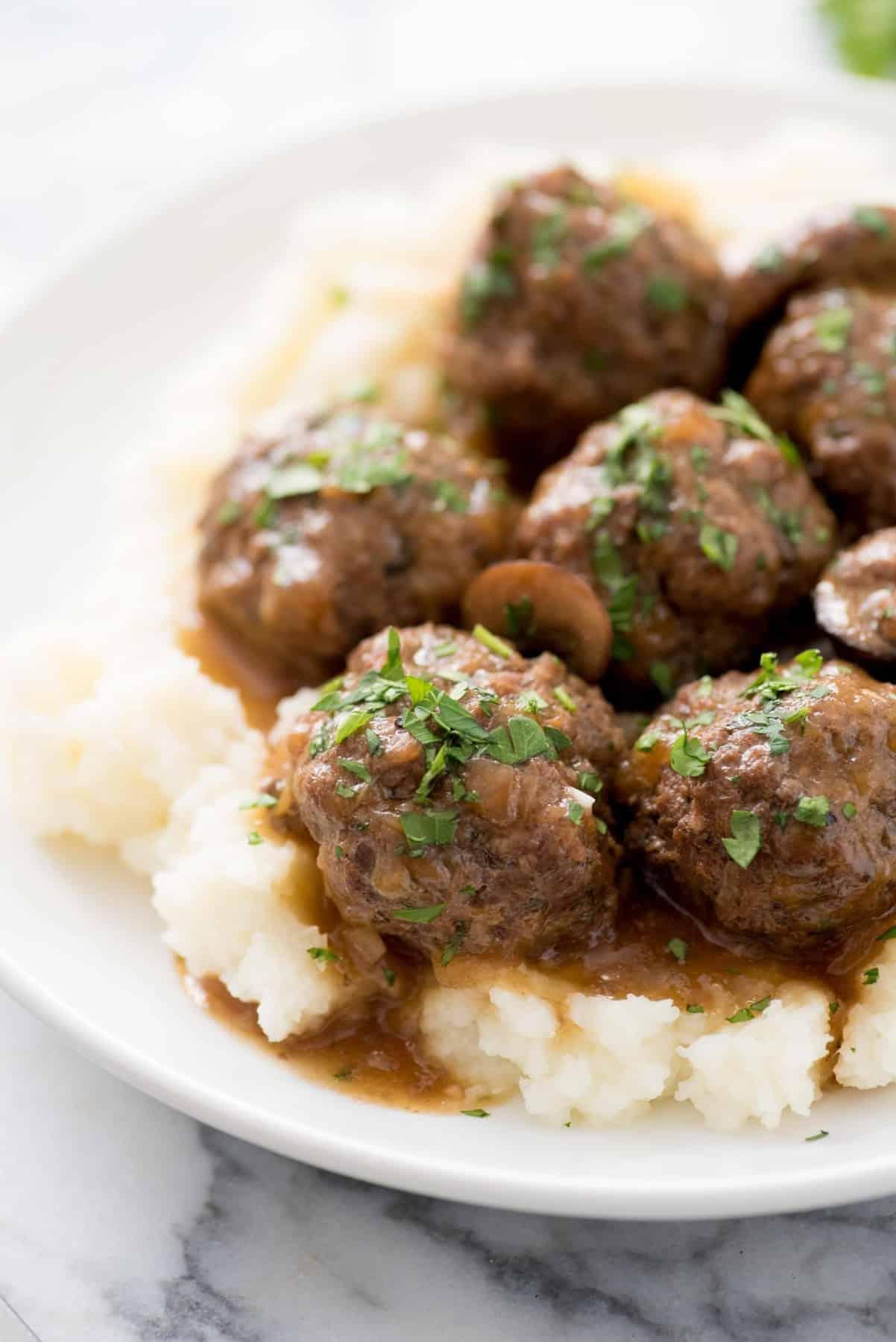 Instant Pot Swedish Meatballs with Mushroom Gravy