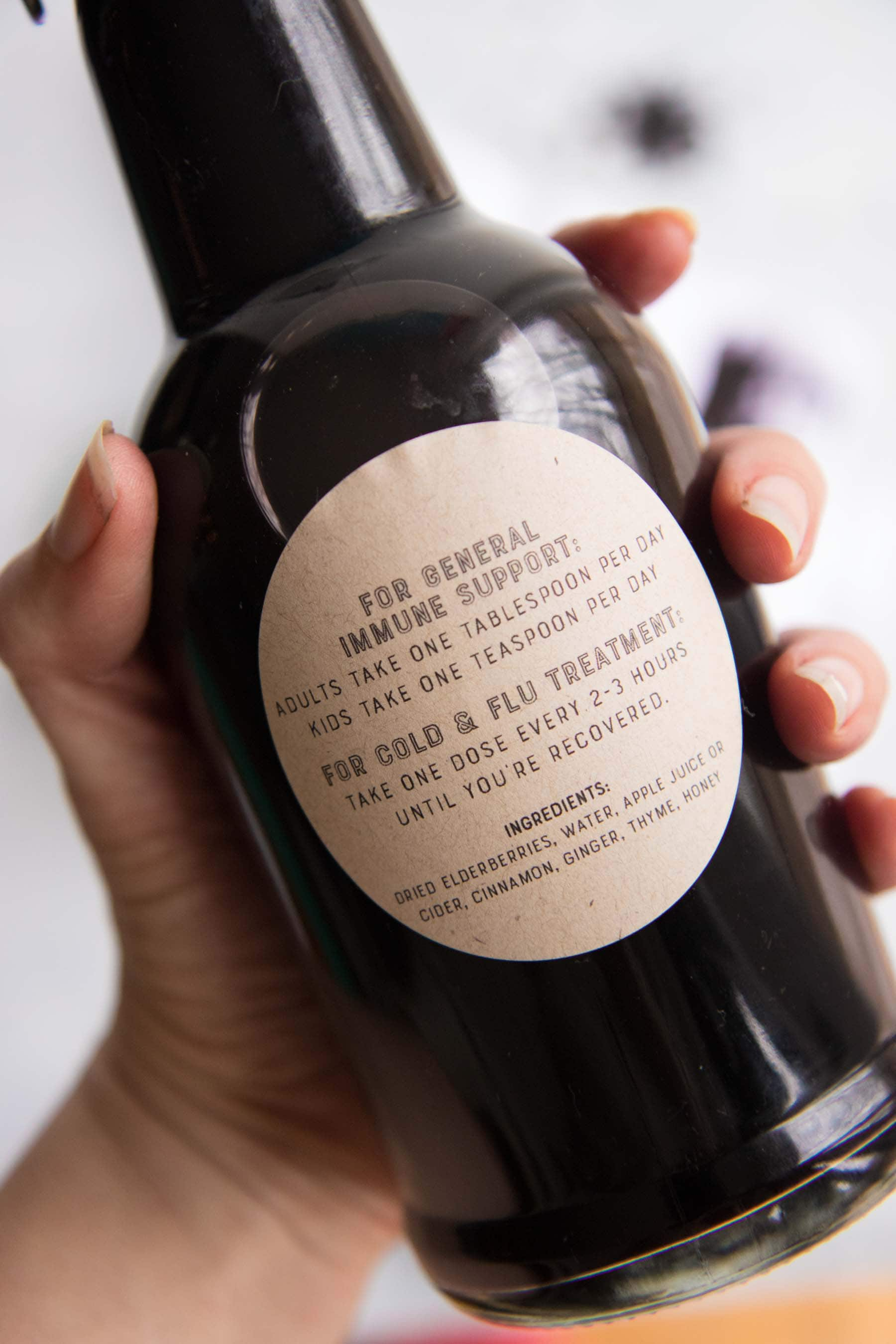 Elderberry Syrup - Labels
