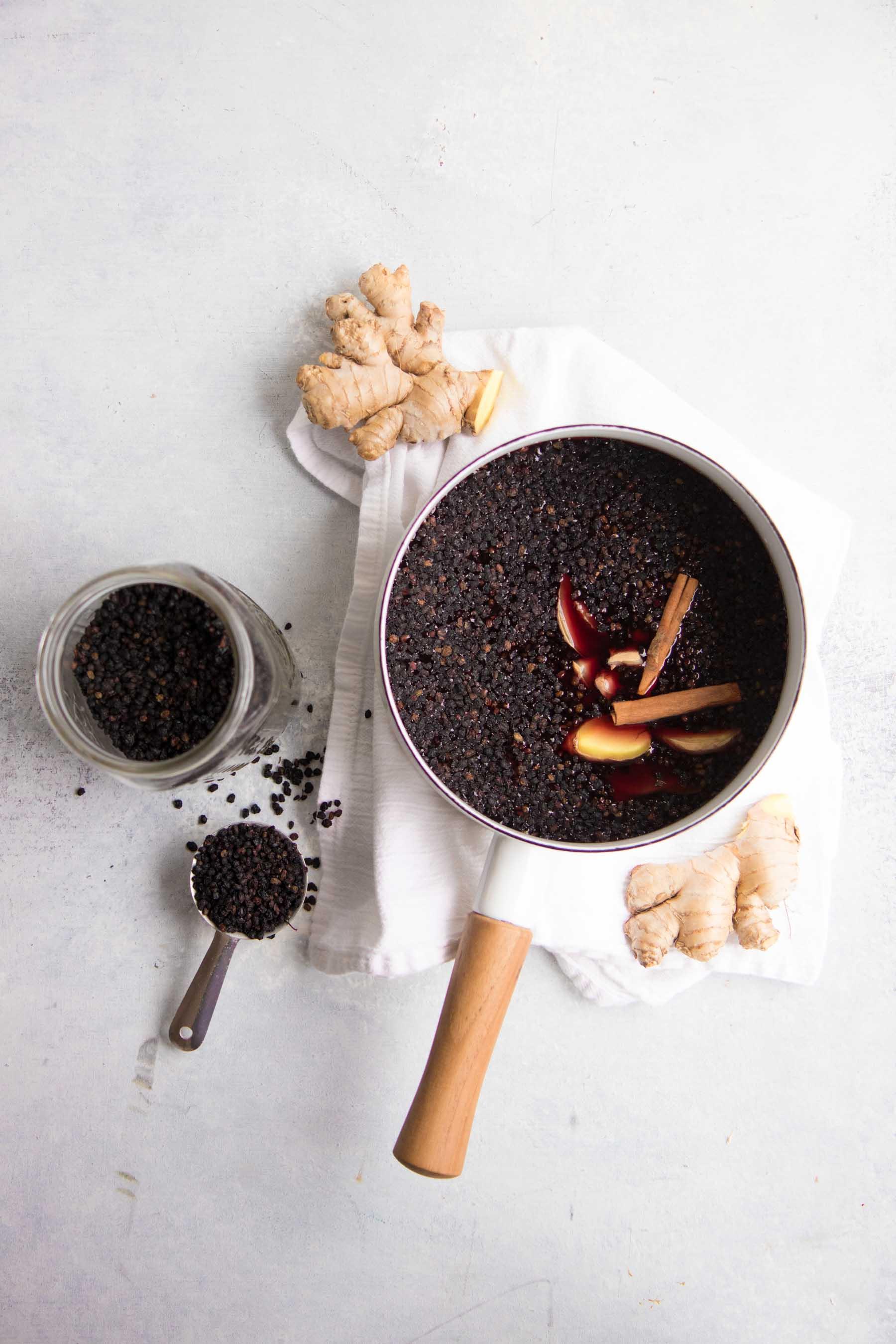 Elderberry Syrup - Ingredients