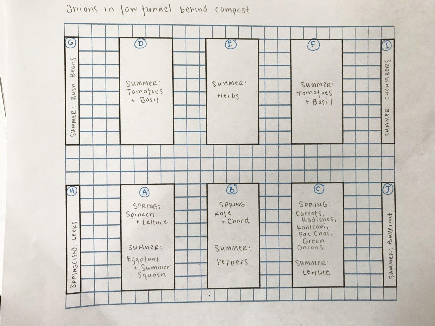 Short term garden plan plotted out