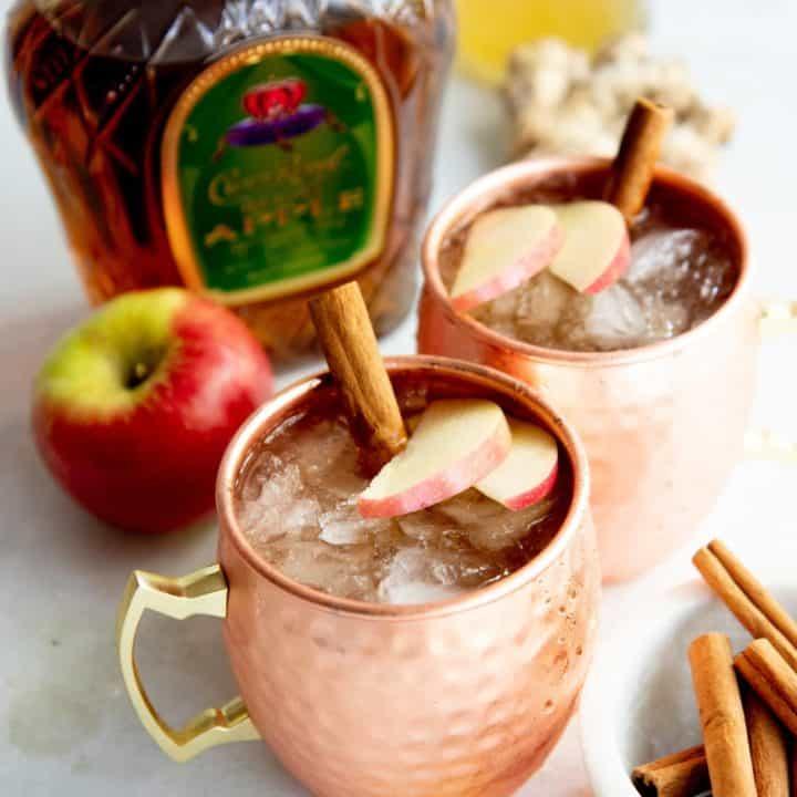 Autumn Apple Kombucha Whiskey Moscow Mule