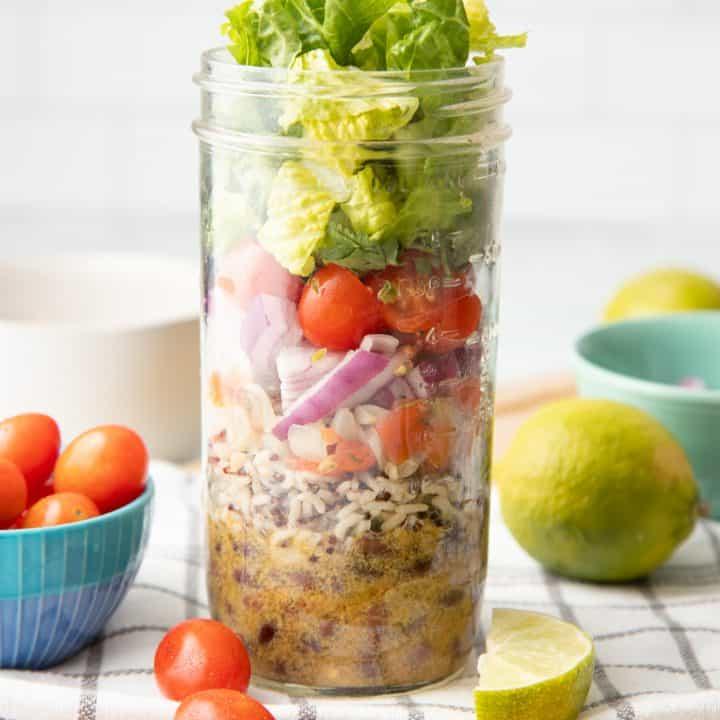 Fiesta Lime Salad in a Jar