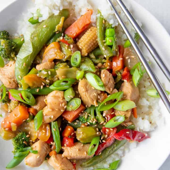 Healthy Chicken Stir Fry Recipe Weeknight Dinner Wholefully